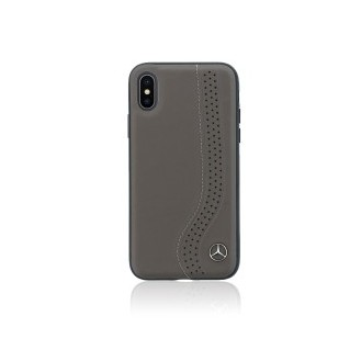 Mercedes Hard Case New Bow Walnut Brown iPhone X Black