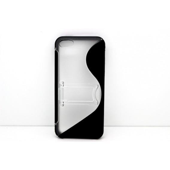 Sline mit Ständer Silikon Schutzhülle Case iPhone 5 / 5S / SE