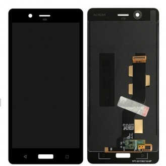 Nokia 8 LCD Display Schwarz TA-1012