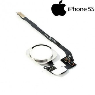 Homebutton knopf Flexkabel Touch ID Sensor Silber iPhone 5S