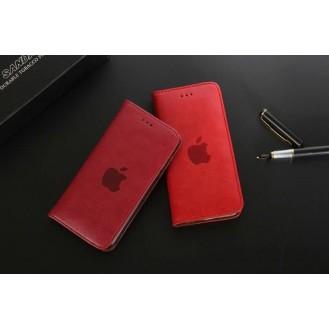 Leder Hülle Etui iPhone 7 & 8 Dunkel-Rot