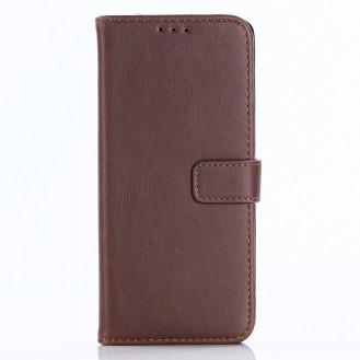 Leder Book Case Etui Galaxy S9 Braun