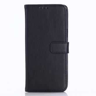 Leder Book Case Etui Galaxy S9 Schwarz