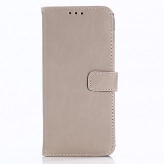 Leder Book case Etui Galaxy S9 Beige