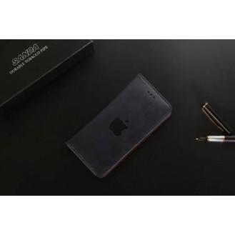 Leder Hülle Etui iPhone 7 & 8 Schwarz
