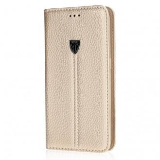 XUNDD Leder Book Hülle Galaxy S9 Rosagold