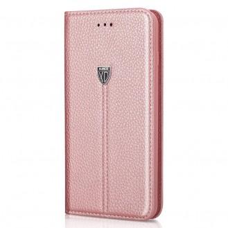 XUNDD Leder Book Hülle Galaxy S9 Plus Rosagold