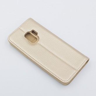 XUNDD Leder Book Hülle Galaxy S9 Plus Gold