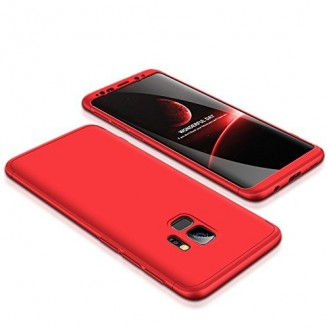 360° Full Cover Case Galaxy S9 Plus Rot