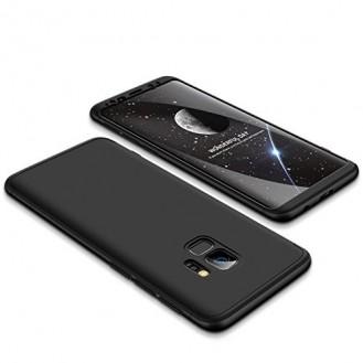360° Full Cover Case Galaxy S9 Plus Schwarz
