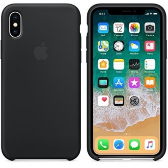 Apple iPhone X Silicon Case - Schwarz