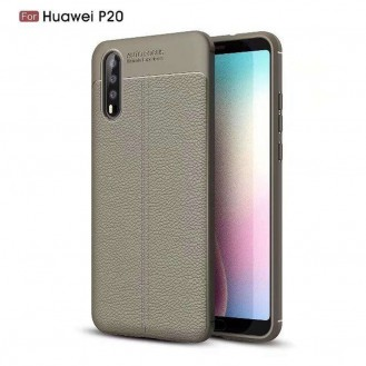 Huawei P20 Luxushülle Leder Backcover Rot