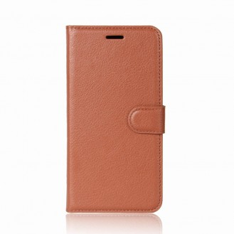 Leder Book Case Etui Galaxy S9 Plus Hell-Braun