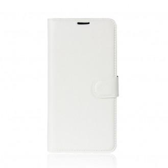 Leder Book Case Etui Huawei P20 Rosa
