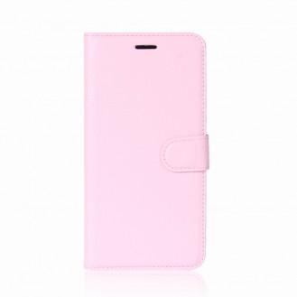 Leder Book Case Etui Huawei P20 Weiss
