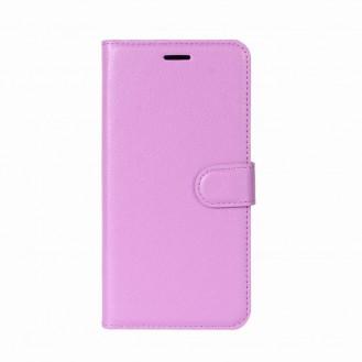 Leder Book Case Etui Huawei P20 Pink
