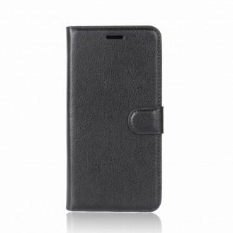 Leder Book Case Etui Huawei P20 Grün