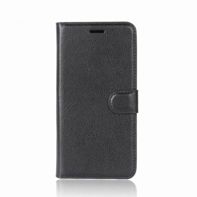 Leder Book Case Etui Huawei P20 Lite Blau