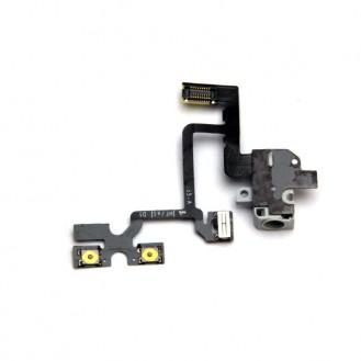 Flex Kabel Kopfhörer Buchse Headphone mit Audio Jack iPhone 4 Weiss