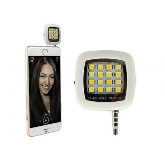 Selfie LED Licht Lampe Handy Smartphone Blitzlicht weiss