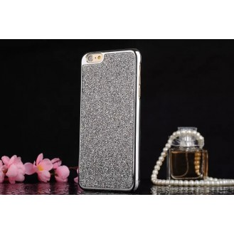 iphone 7 Plus & 8 Plus Silber Bling Hardcover Hülle
