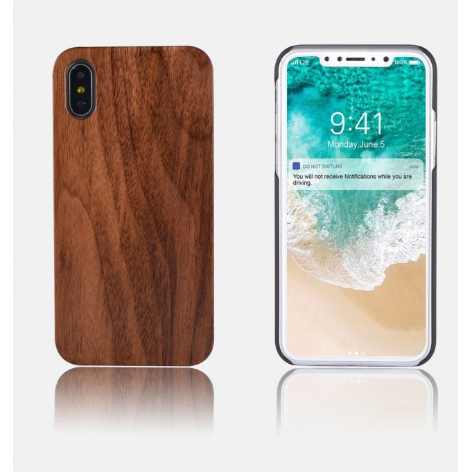 Holz Wood Case iphone X Birnbaum