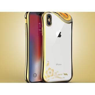 Bling Silikon Hülle iphone X Schwarz
