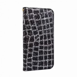 Bling Glitzer Book Case Hülle iphone 7 , 8 Schwarz