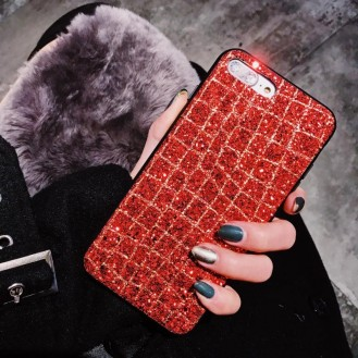 Bling Glitzer Case Hülle iPhone 7 Plus & 8 Plus Rot