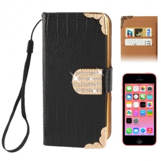 More about Kreditkarten Slot Bling Ledertasche Etui Schwarz iPhone 5C