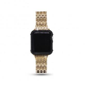 Bling Diamant Edelstahl Uhrenarmband für Apple Watch 3 2 1 42mm