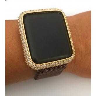 Bling Diamant Edelstahl Case für Apple Watch 3 2 1 38mm