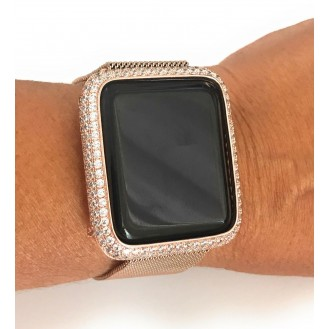 Bling Diamant Edelstahl Case für Apple Watch 3 2 1 42mm