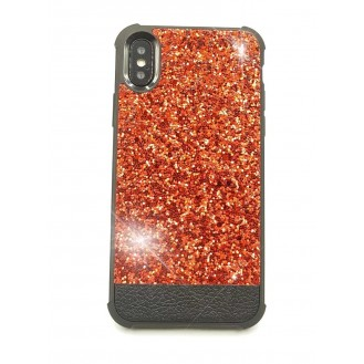 Bling Cover Case Hülle iPhone X Rot