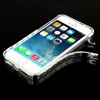Alu Bumper Kette Schutzhülle Cover Case Silber iphone 5 / 5S / SE