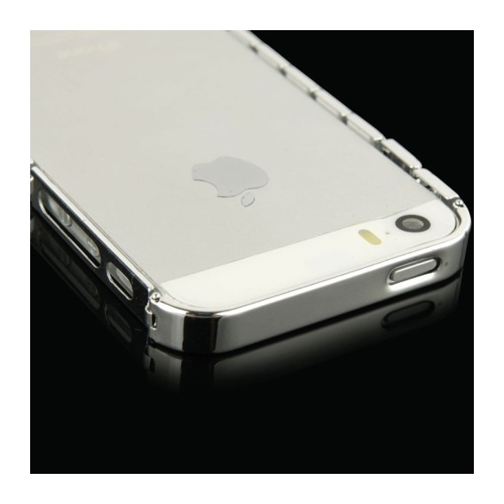 Alu Bumper Kette Schutzhülle Cover Case Silber iphone 5 / 5S /
