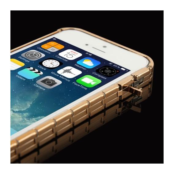 Alu Bumper Kette Schutzhülle Cover Case Gold iPhone 5 / 5S / SE
