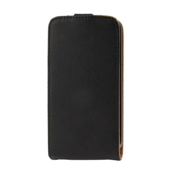 Schwarz Flip Leder Etui Tasche LG G2