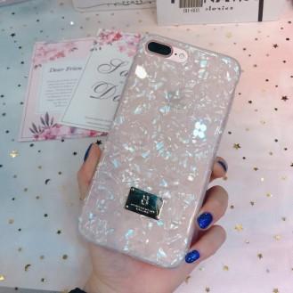 Marmor Silikon Hülle iPhone 7 Plus & 8 Plus Rosa