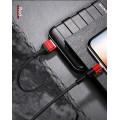 Usams 1,2 m Lightning USB-Datenkabel Schwaz-Rot