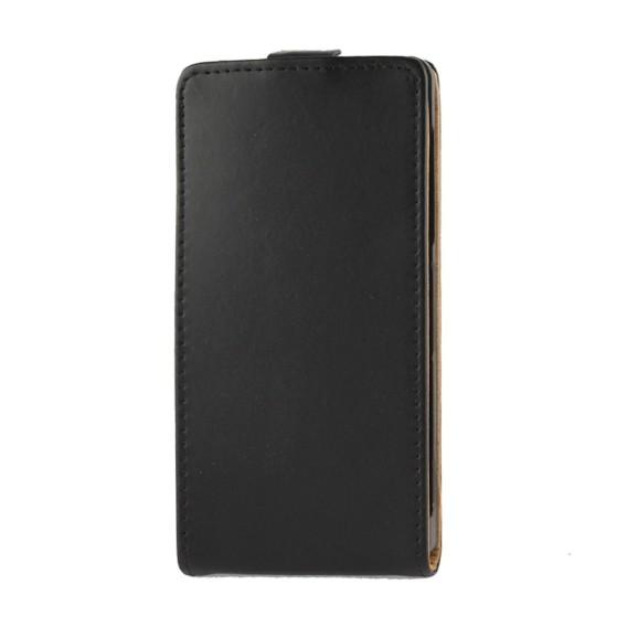 Schwarz Flip Leder Etui Tasche Sony Xperia Z2 / L50w