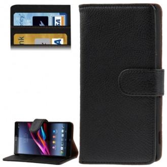 More about Leder Kreditkarte Ledertasche Etui Sony Xperia Z2 / L50w Schwarz