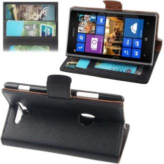 More about Leder Kreditkarte Ledertasche Etui Nokia Lumia 925 Schwarz