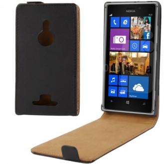 More about Schwarz Flip Leder Etui Tasche Nokia Lumia 925