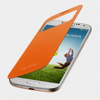 Flip Cover S-View Case Samsung Galaxy S4 Orange