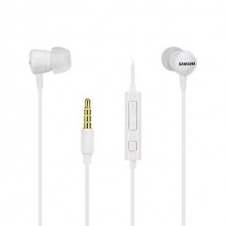 Samsung Stereo Headset Weiß 3,5mm mit Mikrofon