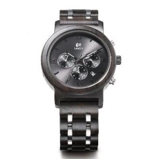 LeeEv Natural Holz Chronograph Uhren Blackwood