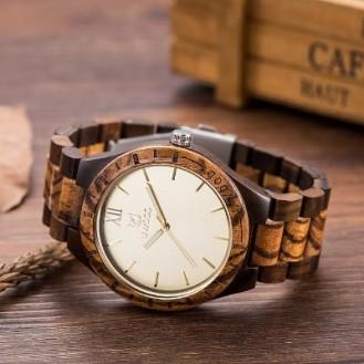 UWOOD Natural Wood Watches Holzuhr Zebraholz