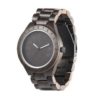 UWOOD Natural Wood Watches Holzuhr Blackwood