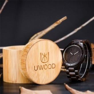 UWOOD Natural Wood Watches Holzuhr Blackwood